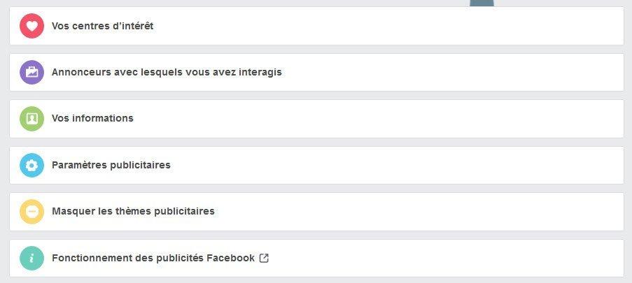 Facebook - gestion des publicités