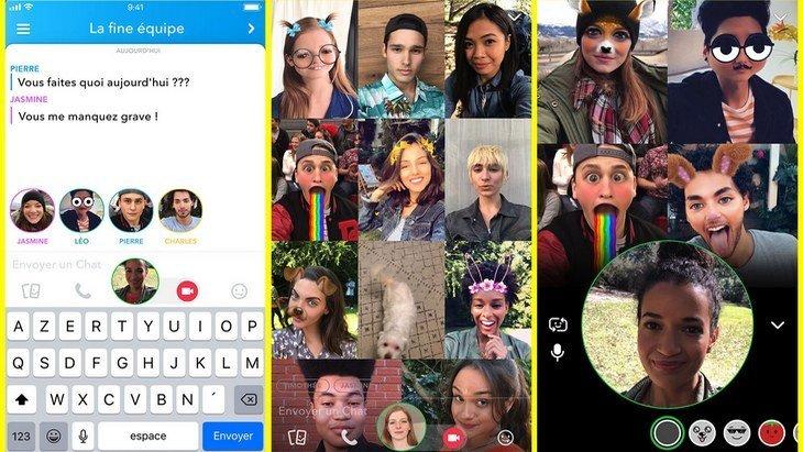 Snapchat ajoute les vidéos de groupe et les mentions dans son application