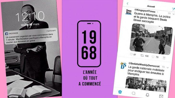 Les événements de mai 1968 racontés en version mobile