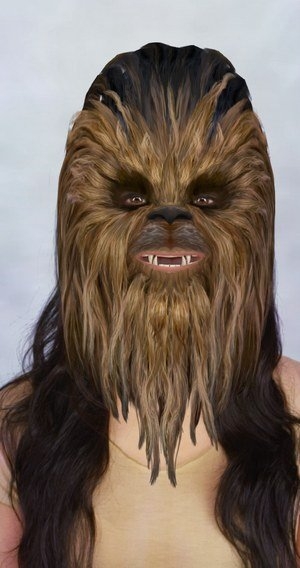 chewbacca face lens