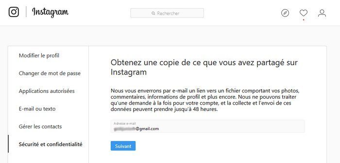 copie data instagram