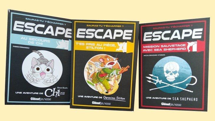 Glénat Jeunesse lance 3 escape books pour les 8-12 ans