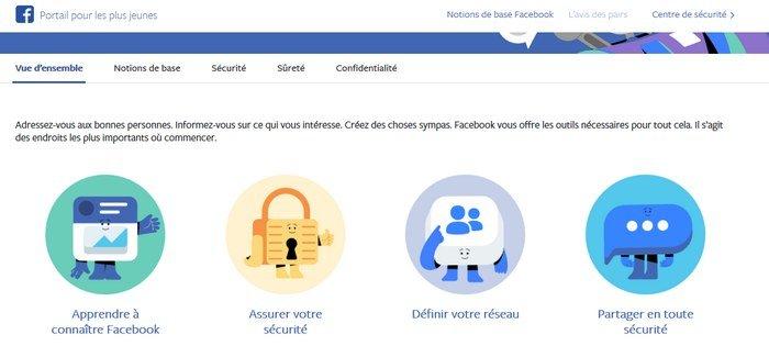 facebook portail jeunes vue