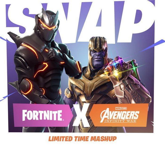 fornite battle royale thanos