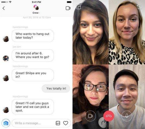 instagram vidéo chat