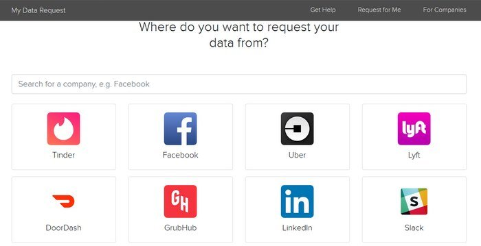 my data request page