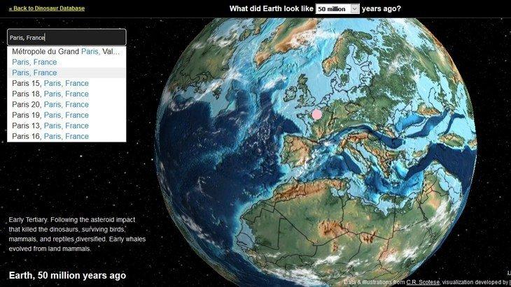 Avec Ancient Earth Globe, découvre où se trouvait ta ville il y a des millions d'années
