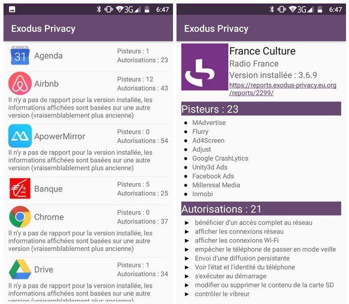 exodus privacy screenshot