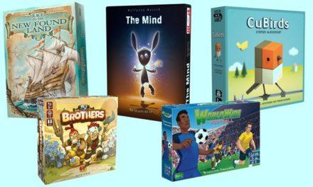 5 nouveaux jeux de société #4 : The Mind, Cubirds, Worldwide Football, Brothers…