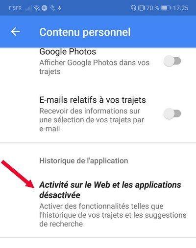 compte google activer web-application