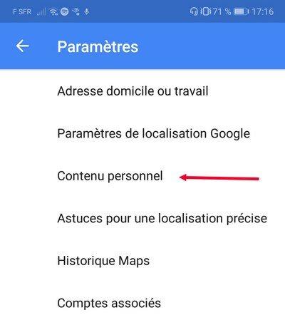 compte google contenus personnels
