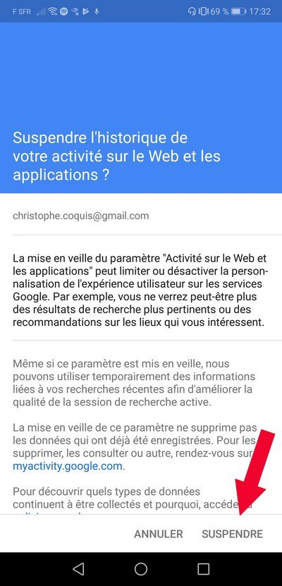compte google activer web-application