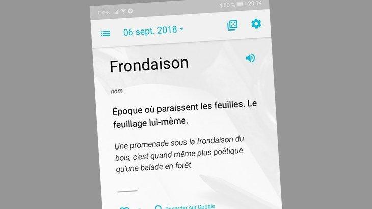 Les apps de la rentrée (1/10) : Mot du Jour, pour enrichir ton vocabulaire