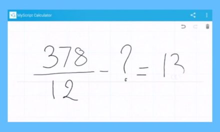 Les apps de la rentrée (4/10) : MyScript Calculator, une calculatrice au bout des doigts