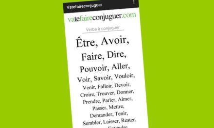 Les apps de la rentrée (3/10) : Conjugaison – VaTeFaireConjuguer, pour conjuguer tous les verbes