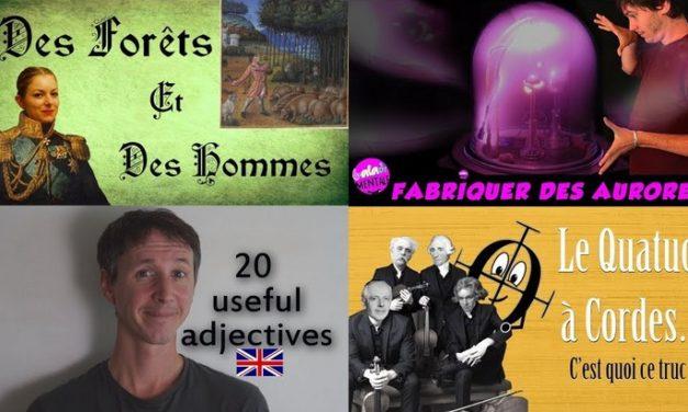 Apprendre avec YouTube #97 : La Prof, Balade Mentale, Nota Bene, Linguisticae, Scherzando…