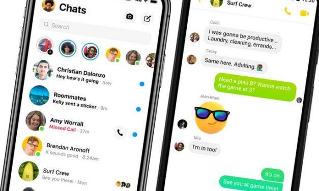 Mise à jour de Messenger : découvre la nouvelle interface de l'application