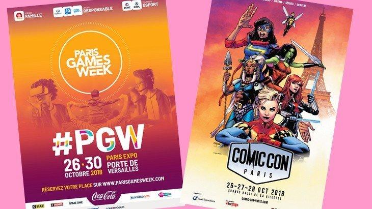 Paris Games Week et Comic Con Paris : les geeks envahissent la capitale !