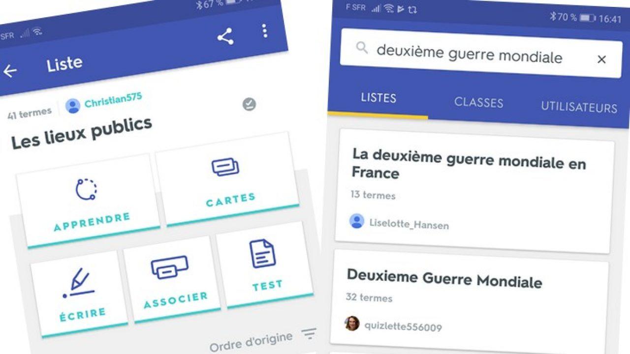 Les apps de la rentrée (10/10) : Quizlet, une application de