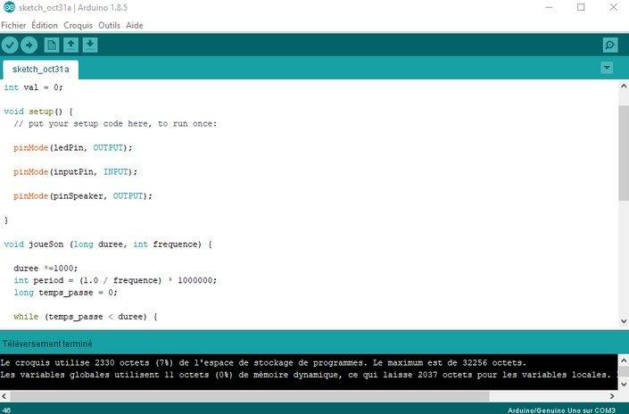 Robobox - Arduino - programmation du robot