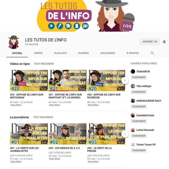 Les tutos de l'info - chaîne YouTube