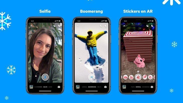 Mise à jour Messenger : de nouveaux effets de caméra et des stickers en réalité augmentée