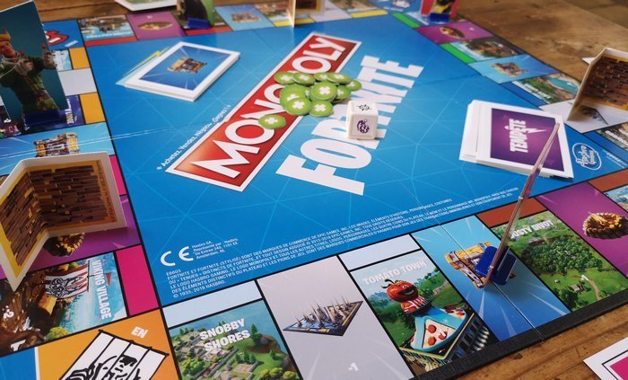 Fortnite Monopoly set up