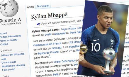 La casa de papel et Kylian Mbappé parmi les articles Wikipedia les plus consultés en 2018 en France
