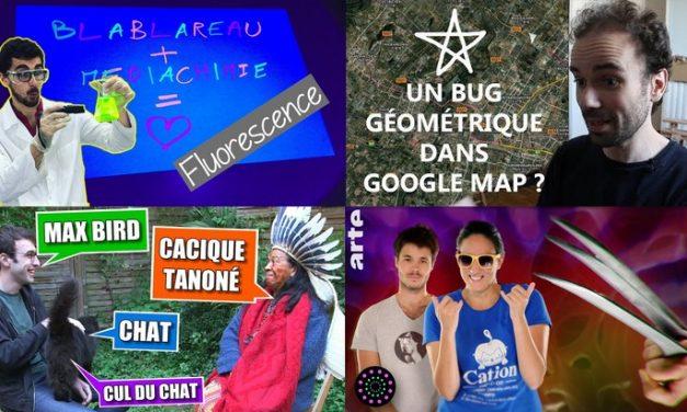 Apprendre avec YouTube #126 : Max Bird, MicMaths, Le Grand JD, Astronogeek, Blablareau au labo…