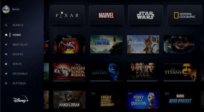 Disney + streaming tv