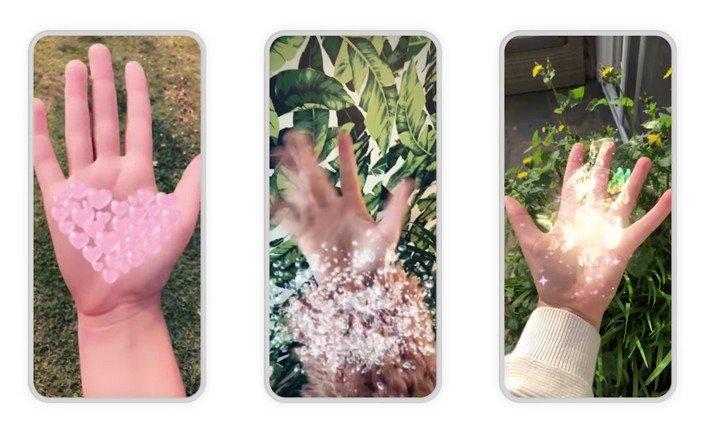 Lenses mains Snapchat