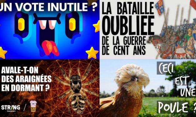 Apprendre avec YouTube #130 : Hugo Décrypte, Nota Bene, Le Tatou, Le Vortex, Toopet…
