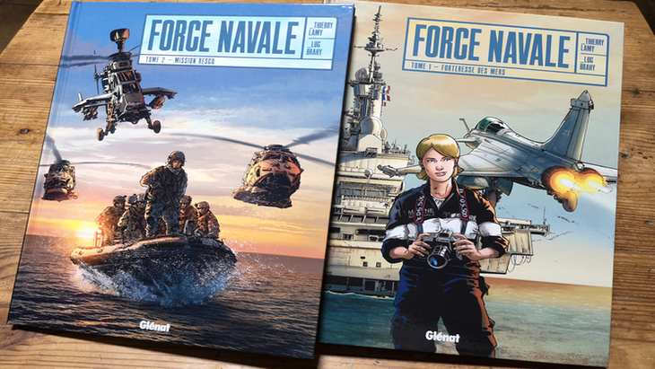 La BD du week-end #82 : Force Navale (T1 et T2), Reporter d'Image dans la Marine Nationale !