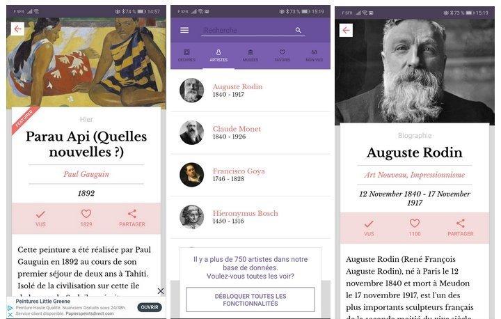 dailyart apps screenshoot