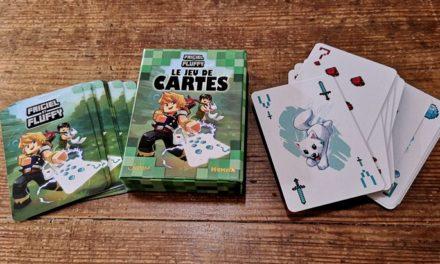Le jeu de cartes dans l'univers Minecraft de Frigiel et Fluffy