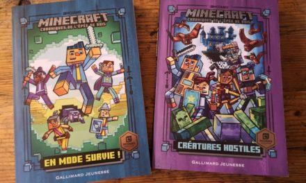 """""""Chroniques de l'Épée de bois"""" : deux romans Minecraft pour les 7-10 ans"""