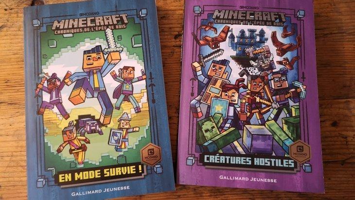 «Chroniques de l'Épée de bois» : deux romans Minecraft pour les 7-10 ans