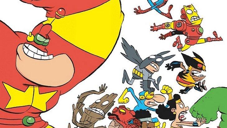 Sortie BD : Captain Biceps (T7) montre aux supers-héros US qui cogne le plus fort !