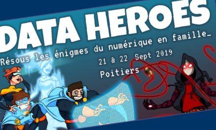 Deviens un des «data heroes» lors des 1ères journées EducNum du 20 au 22 septembre 2019 à Poitiers
