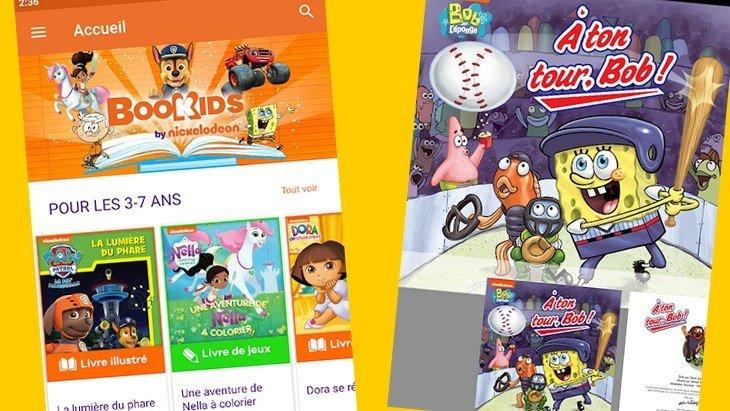 Bookids : une application de lecture avec tous les héros des chaînes Nickelodeon