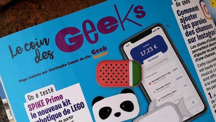 Le Coin des Geeks, la page numérique d'Okapi en partenariat avec Geek Junior