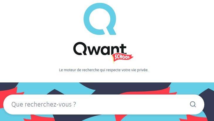 Qwant School, le nouveau moteur de recherche pour les collégiens