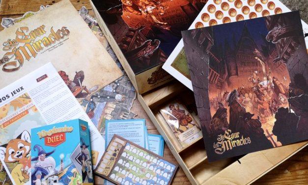 On a reçu notre box de jeux de société Ludum !