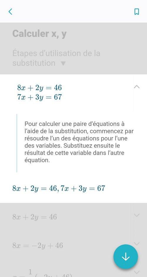 Microsoft Math Solver exemple