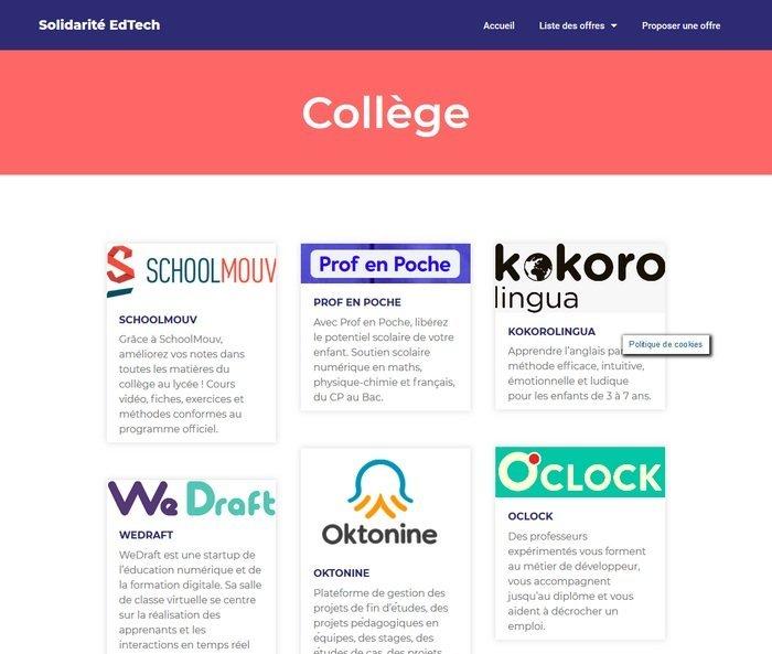 Edtech, les solutions pour le collège