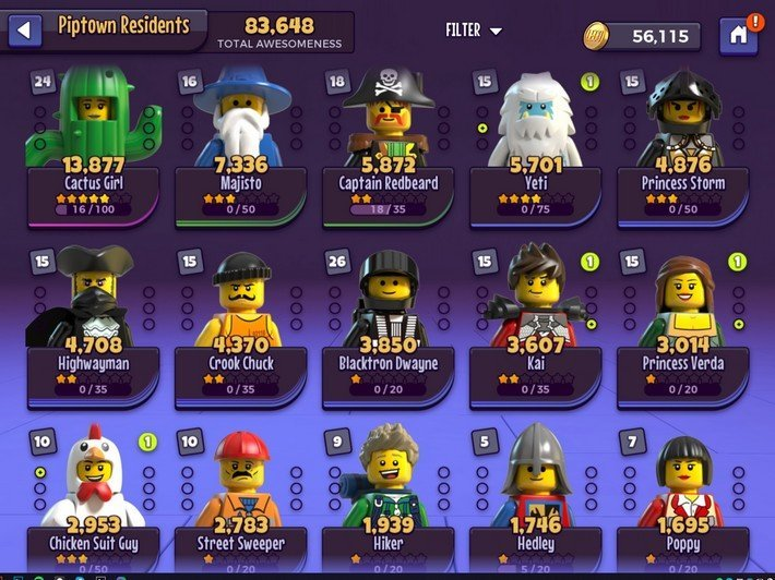 Personnages LEGO Legacy: Heroes Unboxed