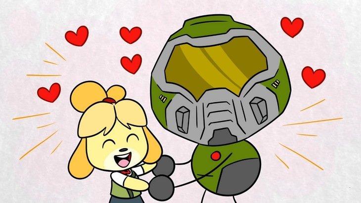 Animal Crossing et Doom dans un même univers ? [vidéos]