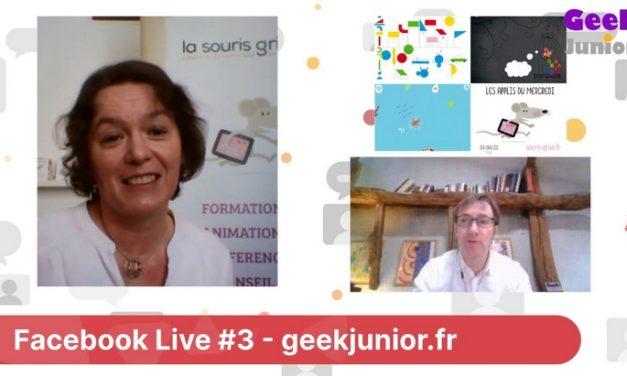 Facebook Live #3 : Les applis du mercredi (pour les petits)