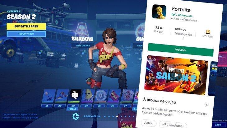 Télécharger Fortnite depuis le Google Play Store, c'est enfin possible