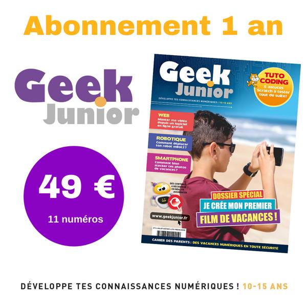 Geek Junior abonnement 1 an